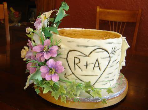 Birch Tree Wedding Cake   CakeCentral.com