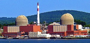 Indian Point nuclear reactor, seen from across...