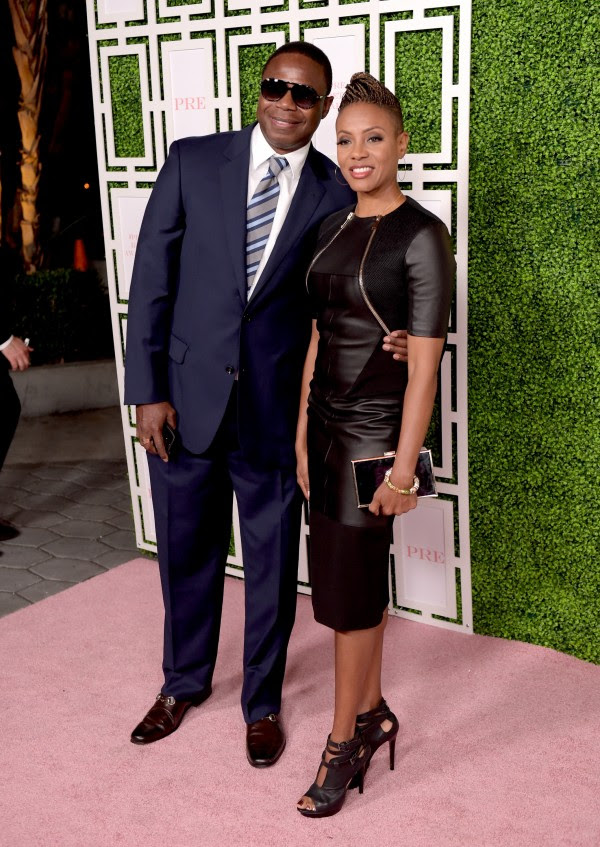 LOS ANGELES, CA - JUNE 24:  Rapper Doug E. Fresh (L) and musical artist/philanthropist MC Lyte attend the 2015 BET Awards Debra Lee Pre-Dinner at Sunset Tower Hotel on June 24, 2015 in Los Angeles, California.  (Photo by Jason Kempin/BET/Getty Images for BET)