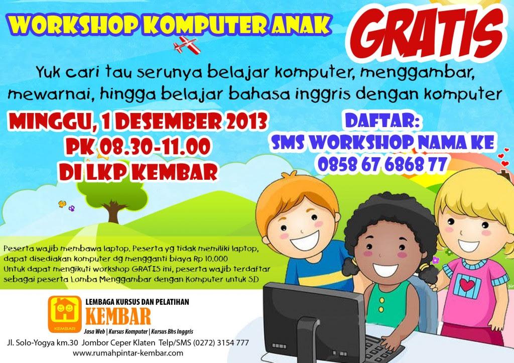 Workshop Komputer untuk Anak GRATIS! | Kursus Komputer ...