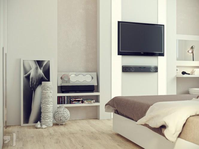 White cream bedroom decor