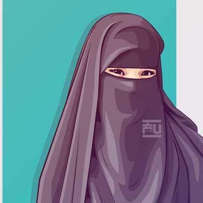 hijab bercadar kartun nusagates