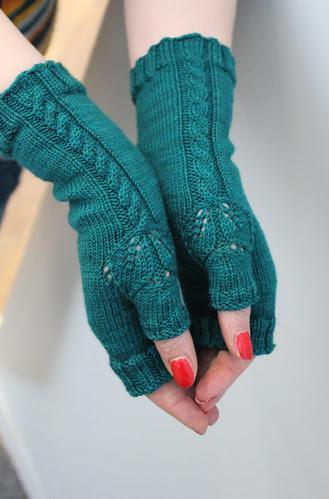 October leaf mittens