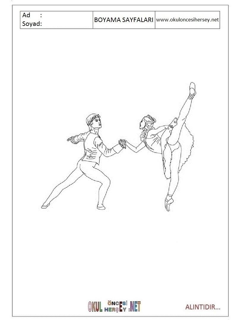 Balerin Boyama Sayfaları