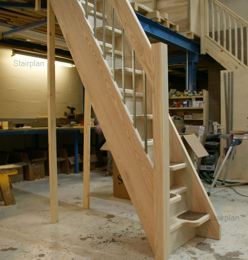 Madrid Wooden Space Saver Staircase Kit Loft Stair: Interior Design Ideas