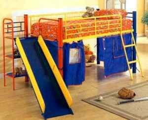 Awesome Kids Loft Bed w/ Slide - www.