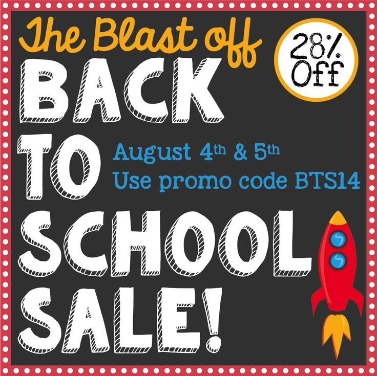 Grab your {FREE} TpT Banners to promote your store!  The Blast off Back-to-School Sale is right around the corner!