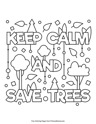 Save Trees Coloring Pages Coloring And Drawing