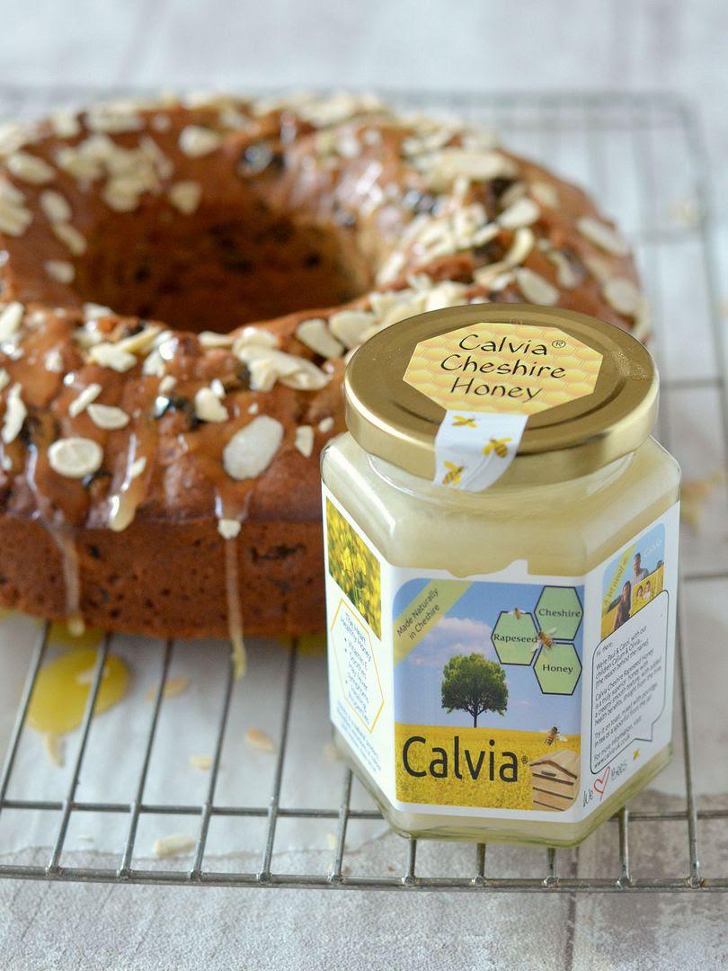 Honey Fruit Cake with Honey Caramel Glaze