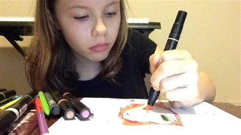 speed drawing   friend jasmine anime kay youtube