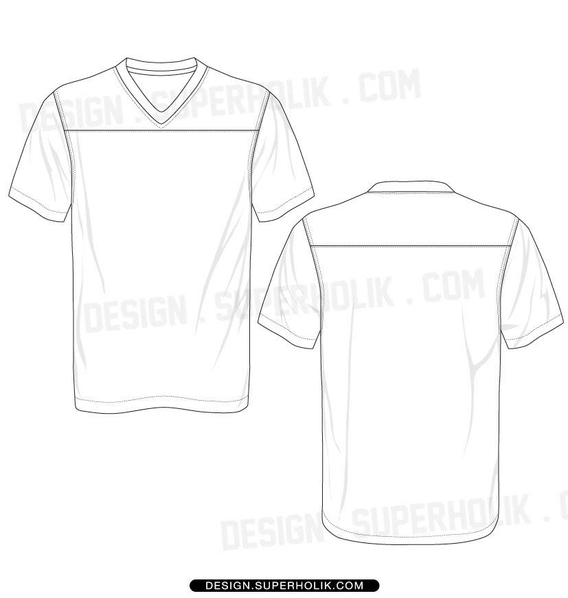 Blank football jerseys template – cbrx