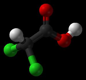 Dichloroacetic-acid-3D-balls