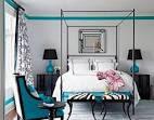 0310-coleman-19-de Turquoise blavk and white bedroom interior ...