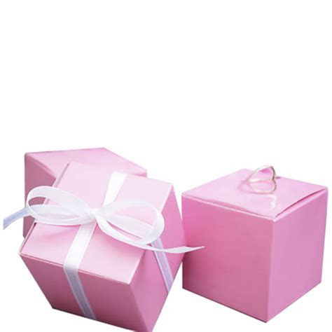 Pink Party Favour Boxes   Luxury Wedding Invitations