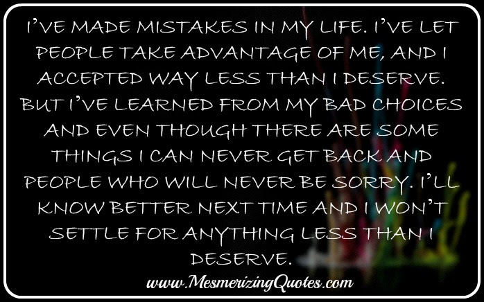 I Made Mistakes In Life Quotes