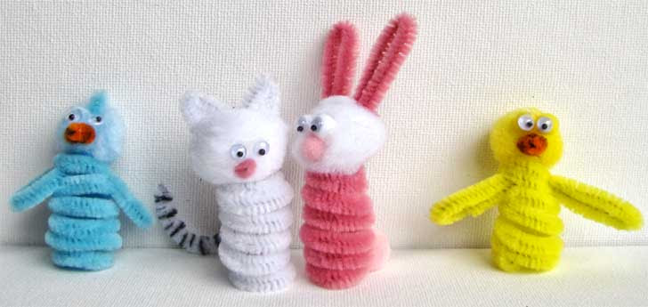 easter finger puppets Easy Easter Crafts: Easter Finger Puppets