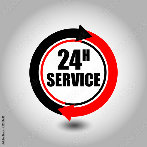 grafik 24h service by gilmour, royalty free # on