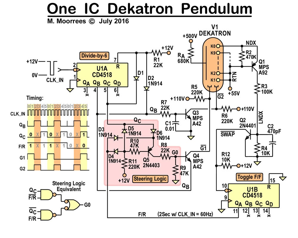 Dekatron Experiments Google Groups Ic 4017 Circuits And Projects 16 It Used A Counter 4013 Flip Flop I Revisited That Circuit Came Up With One Just Uses On 4518 Dual