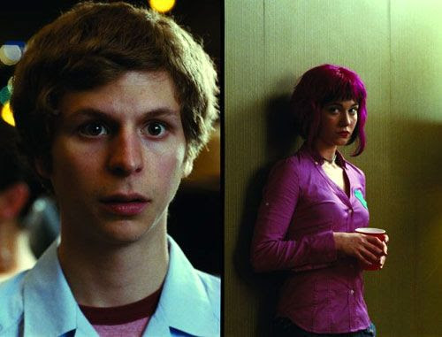 Scott Pilgrim meets the hipster girl of his dreams, Ramona Flowers.