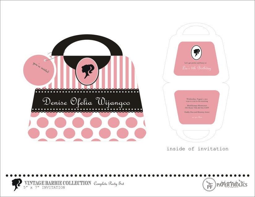 Barbie Silhouette Free Printable Kits Oh My Fiesta in english