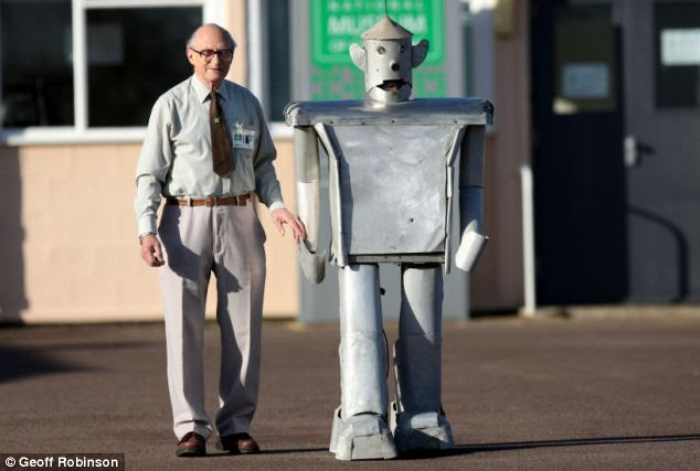 Tony Sale with his most advanced robot,