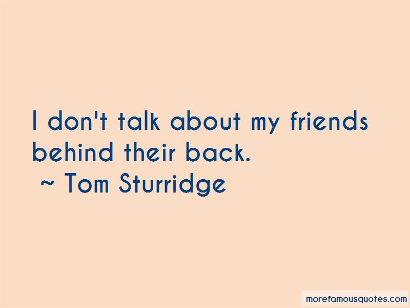 Friends Talk Behind My Back Quotes Top 2 Quotes About Friends Talk
