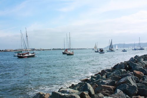 boats at shelter island in san diego