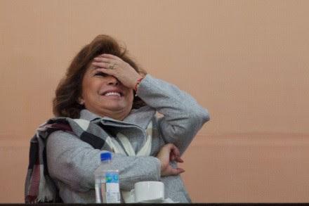 Elba Esther Gordillo Morales, líder del SNTE. Foto: Miguel Dimayuga