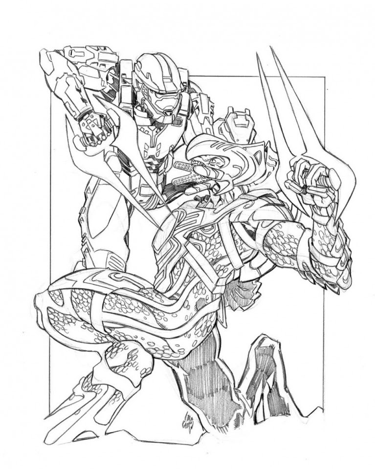 halo coloring pages superhero printables 5af5j