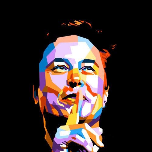 Elon Musk pop art