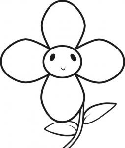 Simple Flowers To Draw For Kids Clipart Best