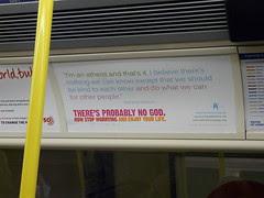 Atheist Campaign on Tube Train