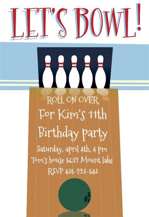 A Night out Bowling   Birthday Invitation Template (free