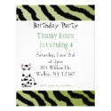 Zebra Pattern Birthday Invitation