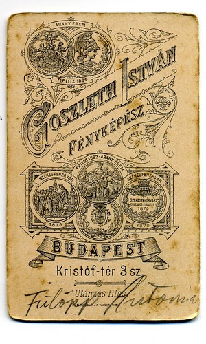 Goszleth Istvan - Budapest 1884