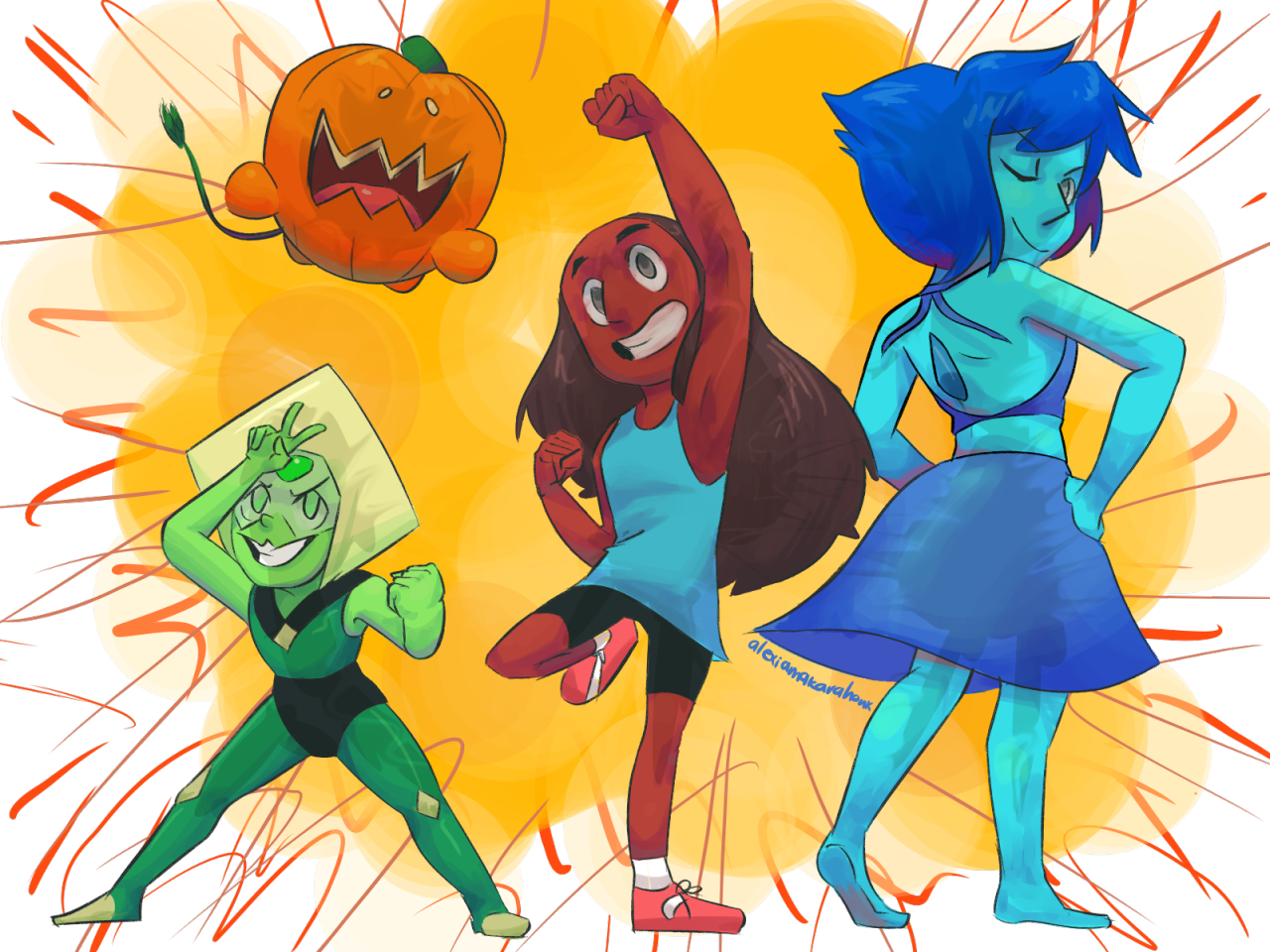 The Crystal Temps! A redraw