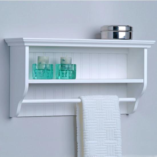 Bathroom Shelves With Towel Bar (14 Image) | Wall Shelves