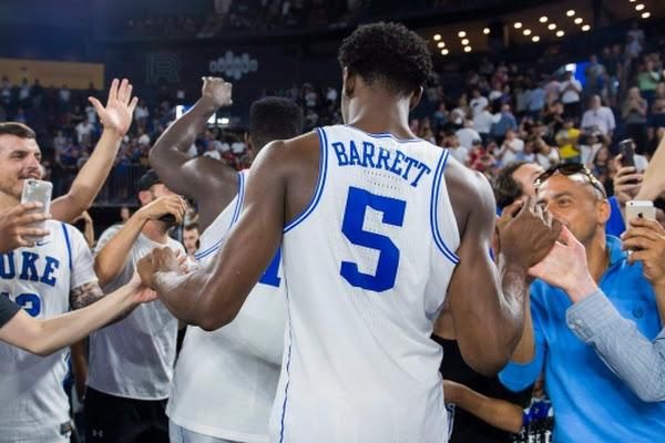 d9fefca7da2 Barrett scores 23 as Duke routs McGill to close Canada tour