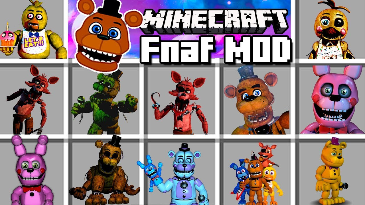 Minecraft Mod | Five Nights at Freddy's Reborn - 1.12.2/1.7.10