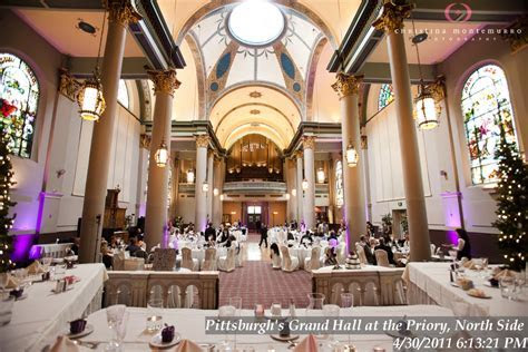 Pittsburgh?s Grand Hall at the Priory Weddings