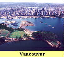 Skyline view shows Vancouver's congested city area