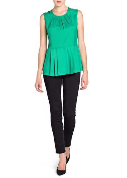 TOP PEPLUM PREGAS