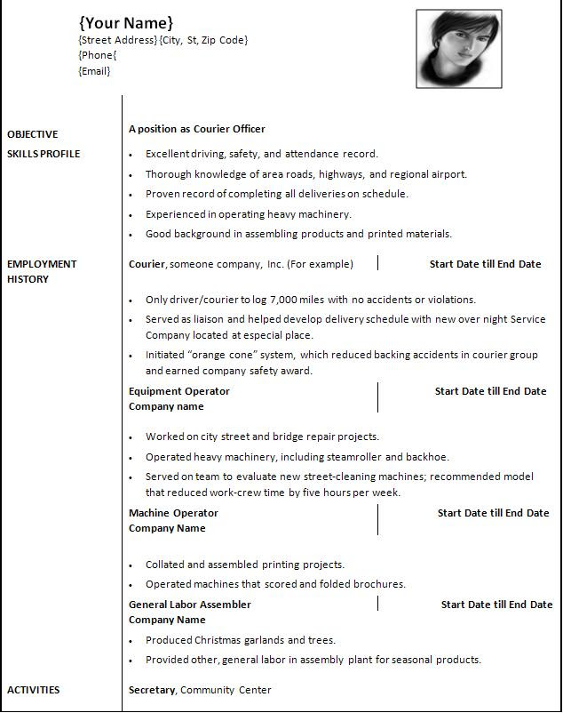 resume templates for office suite x