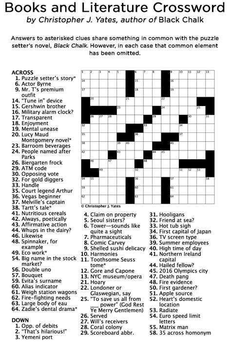 Birthday Crossword Puzzles Easy Pictures to Pin on