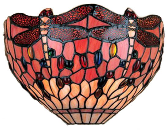 Tiffany-style Dragonfly Wall Lamp - traditional - wall sconces ...