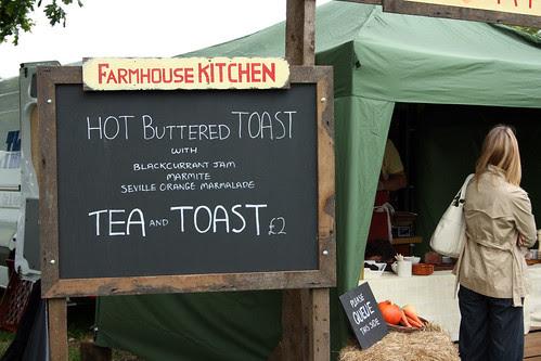 Tea and toast sign