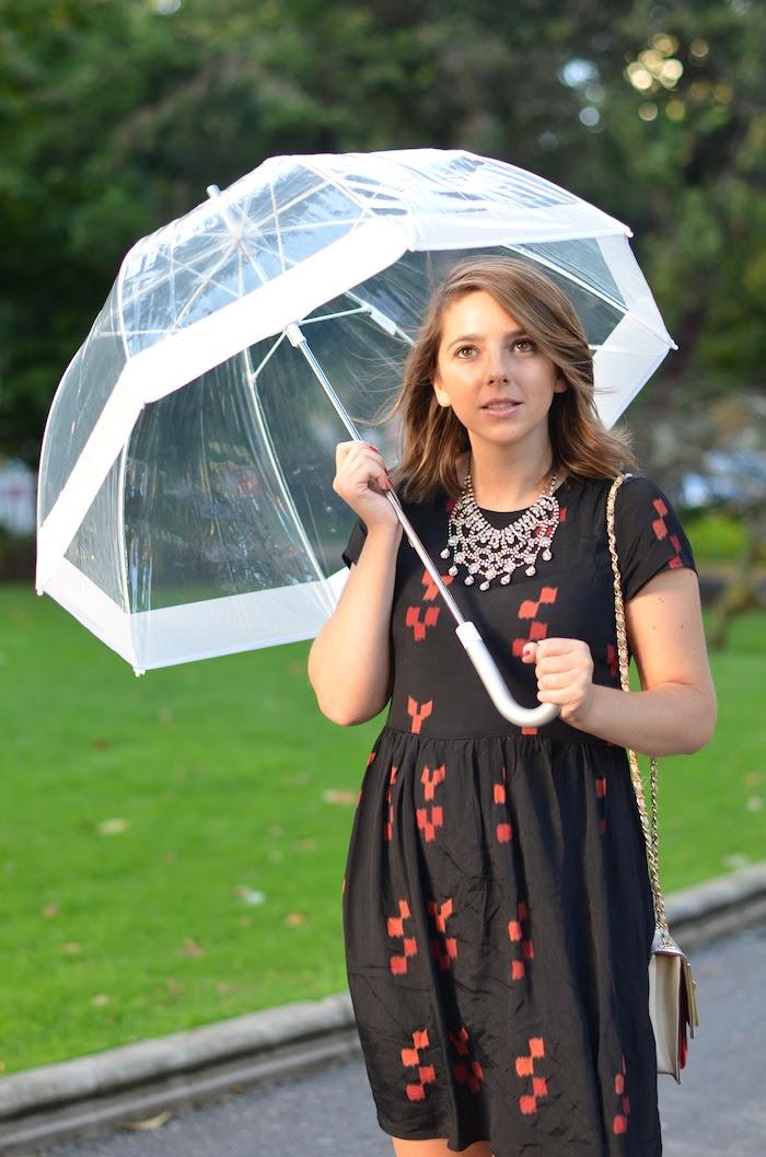paraguas transparente zara