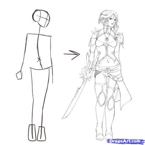 draw poses step  step figures people