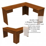 The Nothin-Fancy L-Shaped Plywood Desk - fee plans from WoodworkersWorkshop® Online Store - plywood desks,scrollsawing patterns,drawings,plywood,plywoodworking plans,woodworkers projects,workshop blueprints
