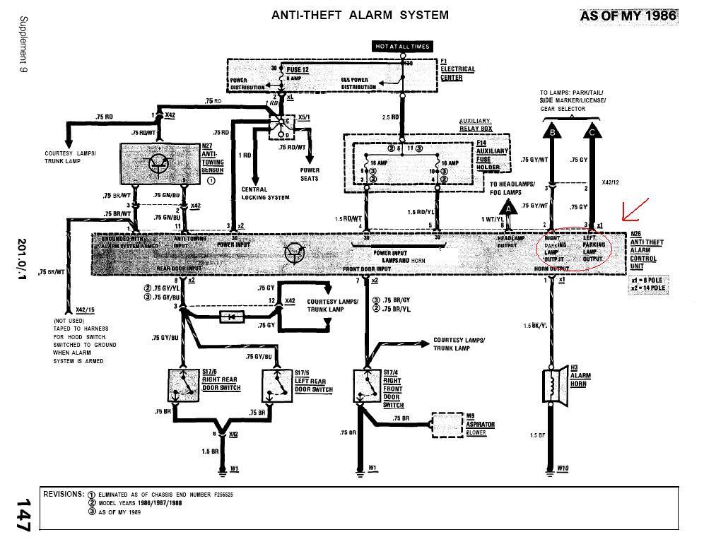 85 E SQUARED FIRE ALARM Mercedes Benz Alarm Wiring Diagram on